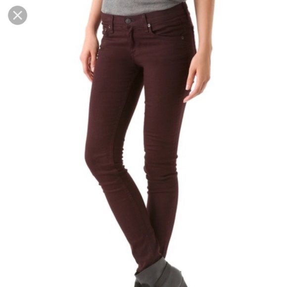 rag & bone Denim - Rag & Bone for Aritzia Skinny Jeans Wine Size 25